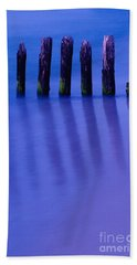Reflections In Blue Beach Towel