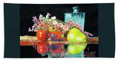 Reflections In Color Beach Towel by Kathy Braud