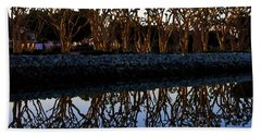 Beach Towel featuring the photograph Reflections In First Light by Gary Holmes