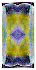 Beach Towel featuring the photograph Reflections In Ice by Nina Silver
