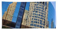 Beach Sheet featuring the photograph Reflections In The Rolex Bldg. by Robert ONeil