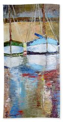 Reflections Beach Towel by Janet Garcia