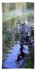 Beach Towel featuring the photograph Reflections  by Mary Wolf