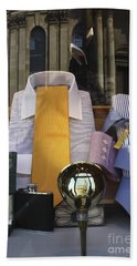 Beach Towel featuring the photograph Reflections Of A Gentleman's Tailor by Terri Waters