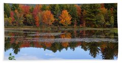 Reflections Of Fall Beach Sheet by Kerri Mortenson