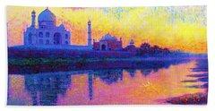 Taj Mahal, Reflections Of India Beach Towel