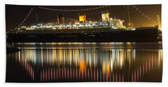 Reflections Of Queen Mary Beach Towel