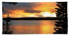 Beach Towel featuring the photograph Reflections Of Sunset by Athena Mckinzie