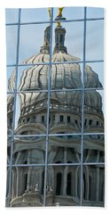 Reflections Of The Capitol Beach Towel