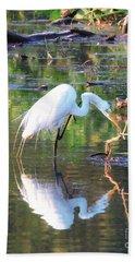 Reflections On Wildwood Lake Beach Towel