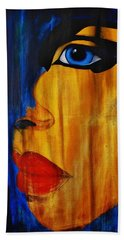 Beach Towel featuring the painting Reign Over Me 3 by Michael Cross