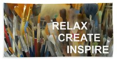 Relax Create Inspire Beach Towel