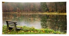 Beach Towel featuring the photograph Relaxing Autumn Beauty Landscape by Christina Rollo