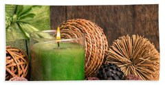 Relaxing Spa Candle Beach Towel