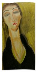 Sophisticated Lady With The Dreamy Eyes Beach Towel