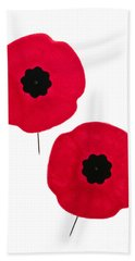 Remembrance Day Poppies Beach Towel