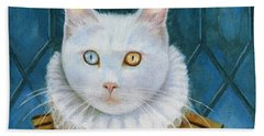 Renaissance Cat Beach Sheet by Terry Webb Harshman