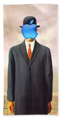 Rene Magritte Son Of Man Apple Computer Logo Beach Towel
