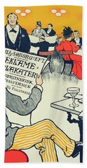 Reproduction Of A Poster Advertising Wilhelm Soborg Beach Towel
