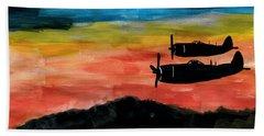 Republic P-47 Thunderbolts Beach Towel