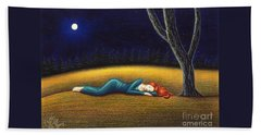 Rest For A Weary Heart Beach Towel
