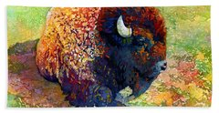 Resting Bison Beach Towel