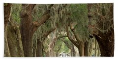 Retreat Avenue Of The Oaks Beach Sheet by Adam Jewell