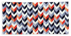 Retro Geometric Beach Towel by Mike Taylor