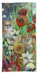 Returning Home To Roost Beach Towel