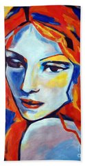 Beach Towel featuring the painting Reverie by Helena Wierzbicki