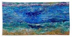 Rhapsody On The Sea  Beach Towel by Regina Valluzzi