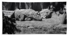 Rhino Nap Time Beach Towel