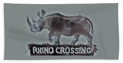 Rhino Xiv Beach Towel by Larry Campbell