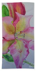 Rhodie With Dew I Beach Towel