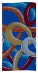 Ribbons In The Sky Beach Towel
