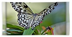Rice Paper Butterfly 2b Beach Towel
