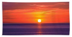 Rich Sunset Beach Towel by Jocelyn Kahawai
