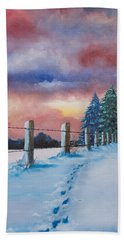 Rich Wintertide Beach Towel