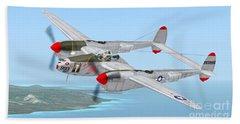Richard Bong's P-38 Lightning Marge Beach Sheet