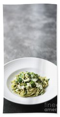 Ricotta And Herb Pasta Beach Towel