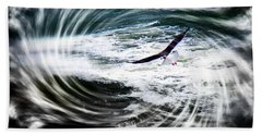 Beach Towel featuring the photograph Riding The Wind by Nick Kloepping