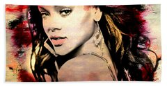 Rihanna Beach Towel by Mark Ashkenazi