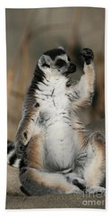 Beach Sheet featuring the photograph Ring-tailed Lemur by Judy Whitton