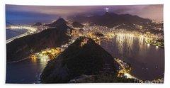 Rio Evening Cityscape Panorama Beach Towel