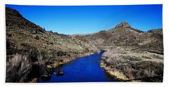 Rio Grande River-arizona V2 Beach Towel