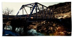 Rio Grande River Bridge Beach Towel