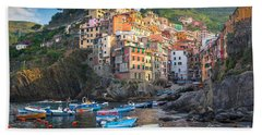 Riomaggiore Boats Beach Sheet