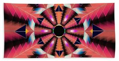 Beach Towel featuring the drawing Rippled Source Of Light by Derek Gedney