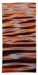 Ripples At Sunset Beach Towel