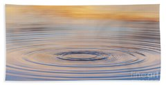 Ripples On A Still Pond Beach Towel